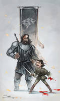 GOT Arya and The Hound