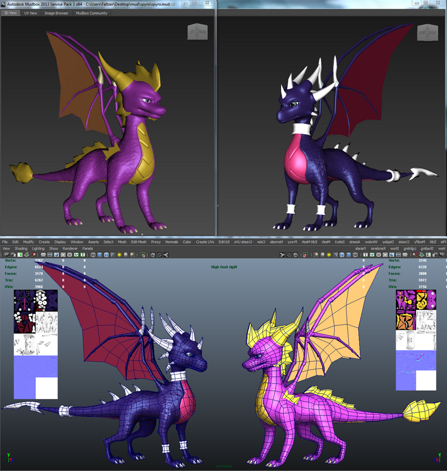 Spirits of the dragons: Spyro and Cynder by Faltzer2142