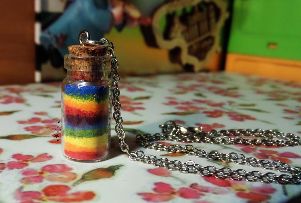 Rainbow necklace by Kaja-Rucia