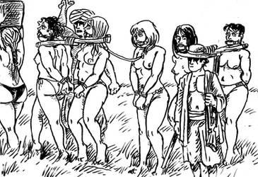 Slave caravan by Jomsviking