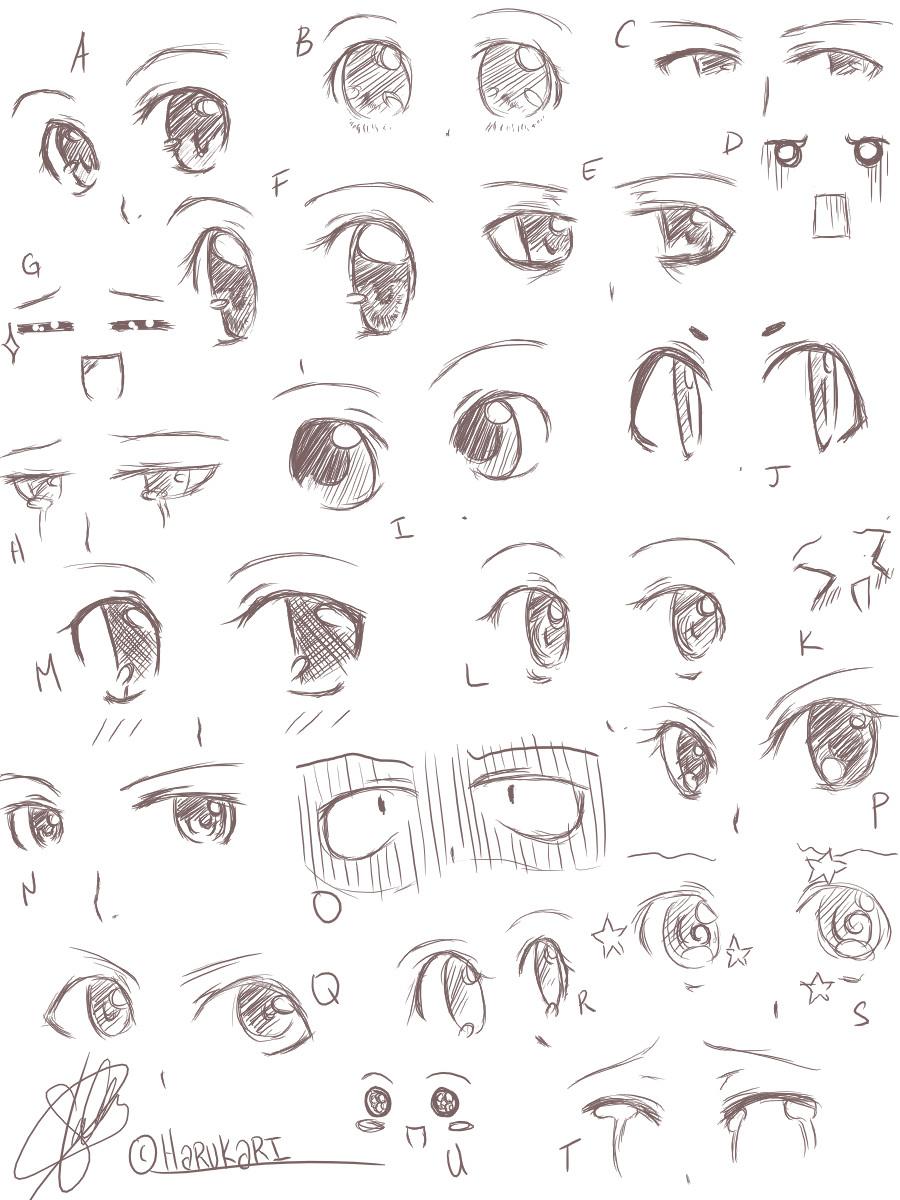 how to make angry anime eyes