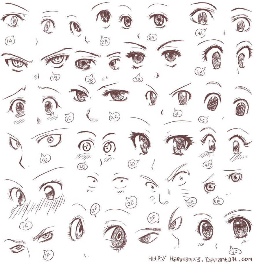 Anime Characters With 3 Eyes : Anime eyes ii by harukarix on deviantart