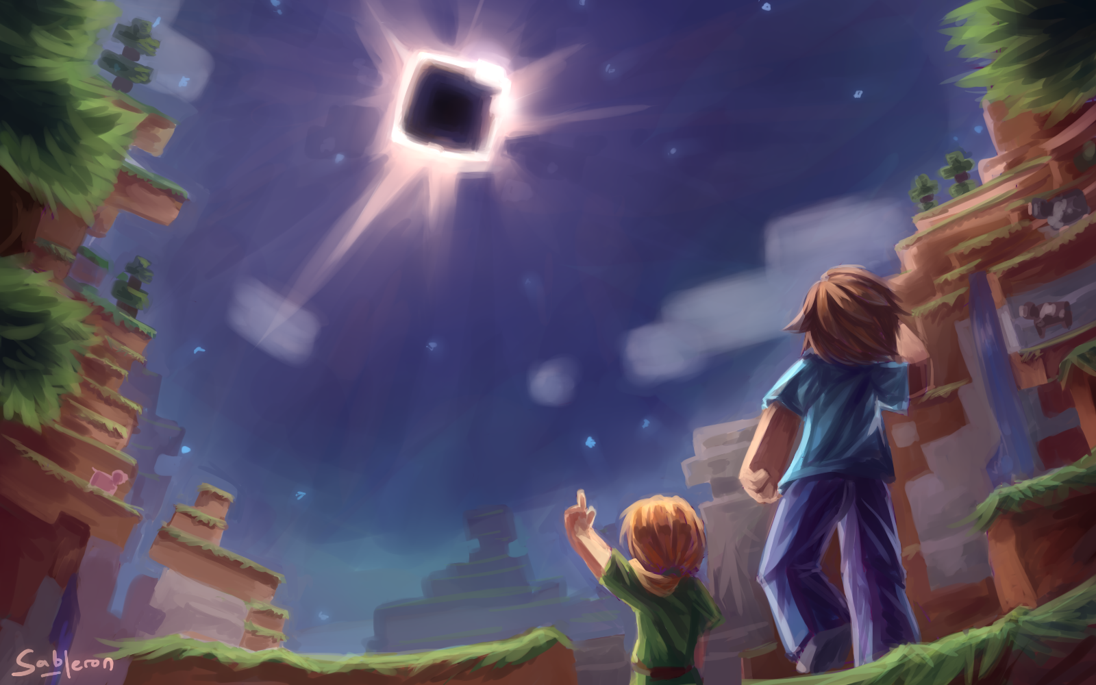 A painting I made for the 2017 Solar Eclipse.