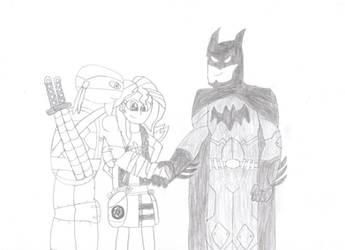 EBG Batman and Leo and Sunset by coleroboman