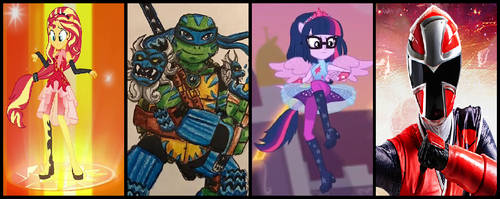 Equestria Ninja Rangers Super Form Group 1 by coleroboman