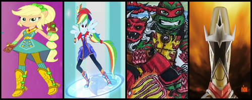 Equestria Ninja Rangers Super Form Group 2 by coleroboman