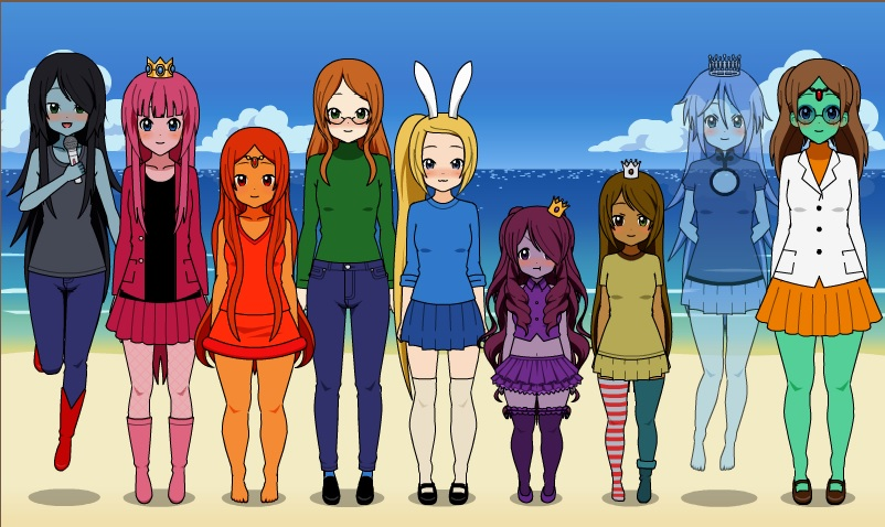 2 Anime Character Creator : K on dress up adventure time by veronica sullivan