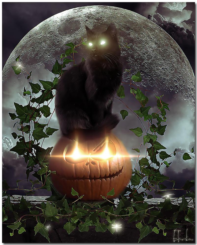 Samhain moon by Elvisegp