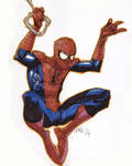 spider-man with markers