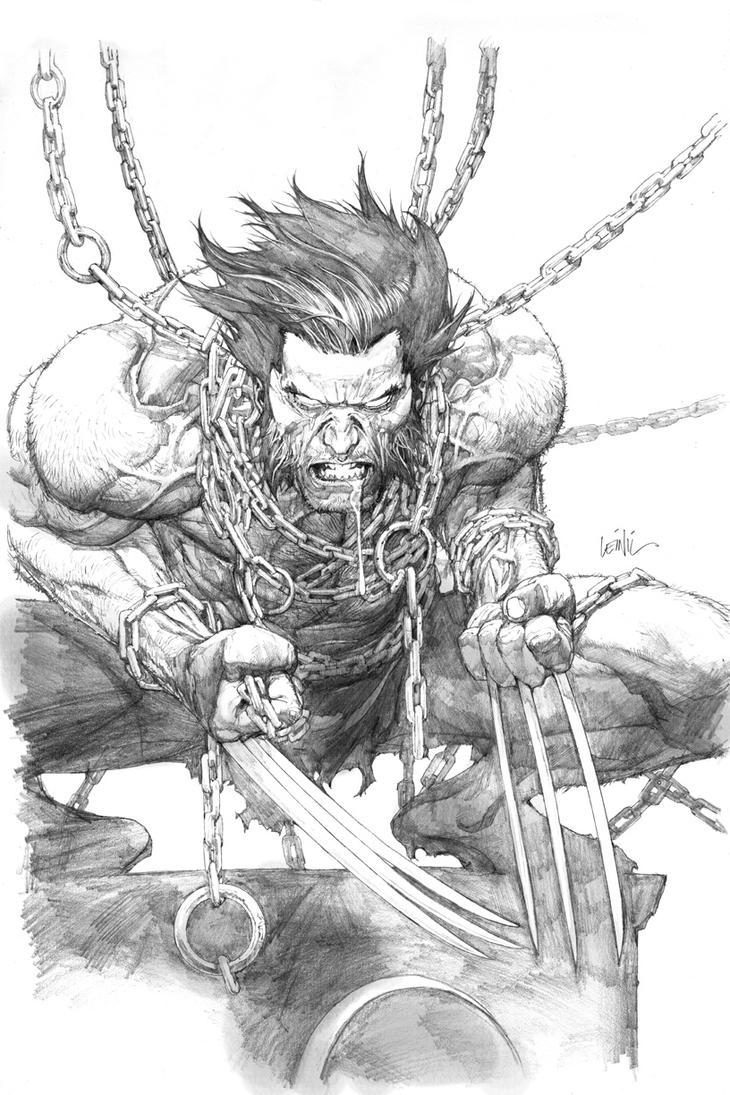 Wolverine SDCC print pencils by leinilyu