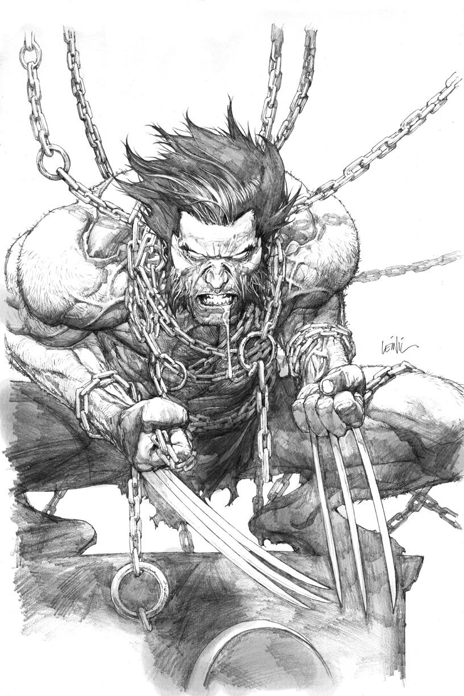 Wolverine SDCC print pencils
