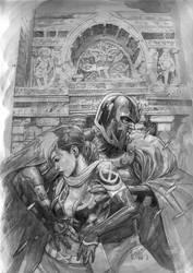 x-men: Legacy grayscale by leinilyu