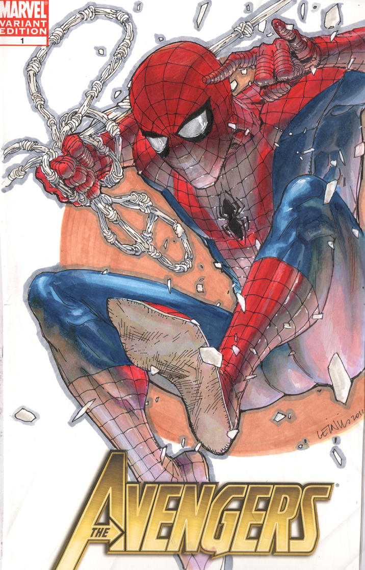 Spidey cover commish by leinilyu