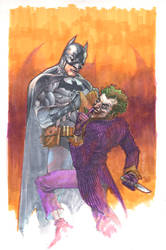 batman and joker markers