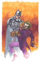 batman and joker markers by leinilyu