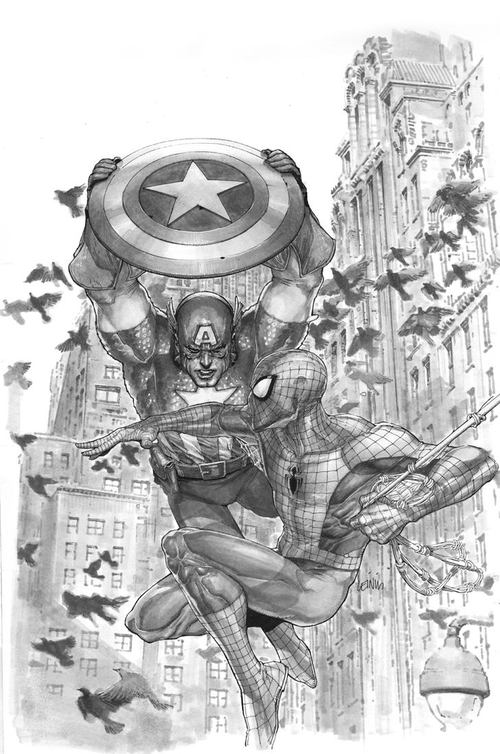 Avenging Spider-man 5 cover by leinilyu