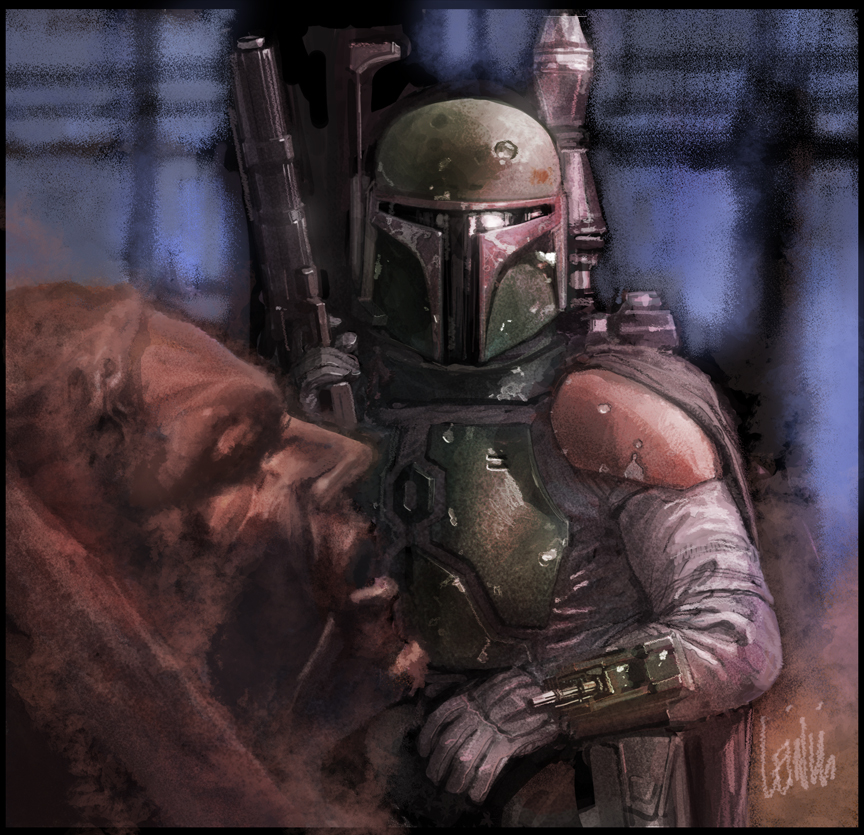 boba fett for star wars cardset by leinilyu