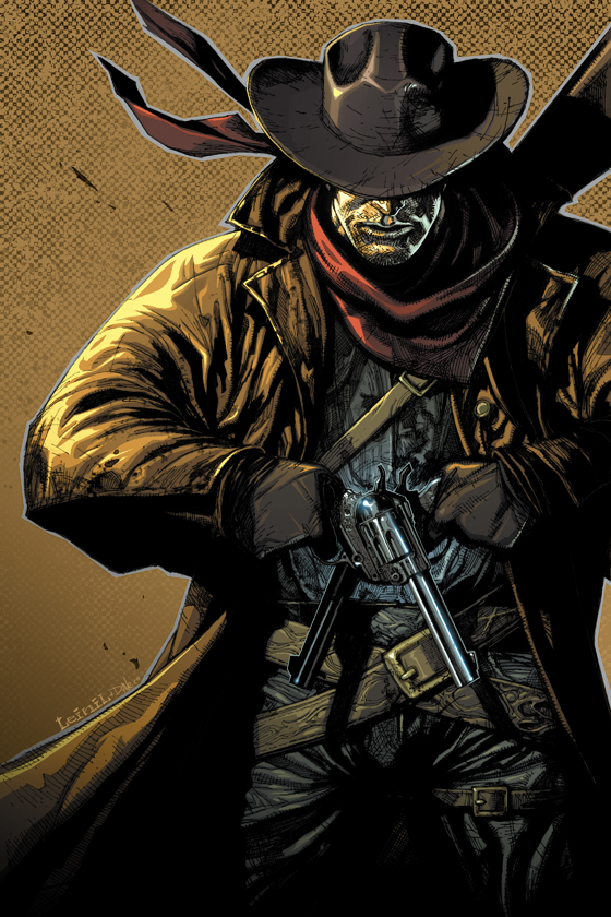 WANTED! Gunslinger_colored_by_leinilyu