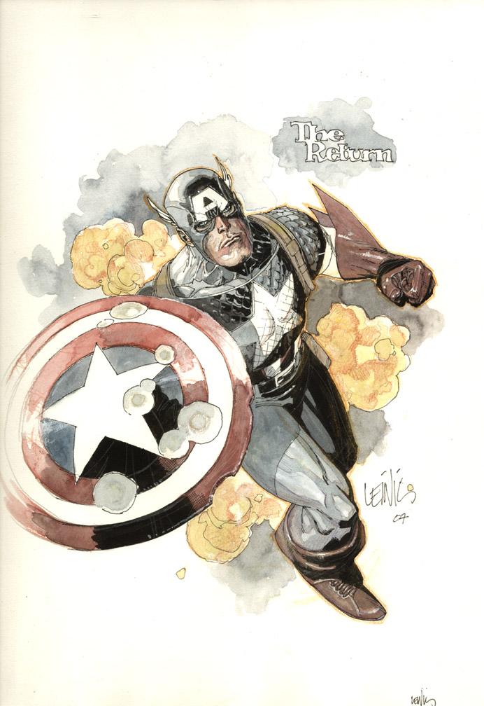 captain america by leinilyu