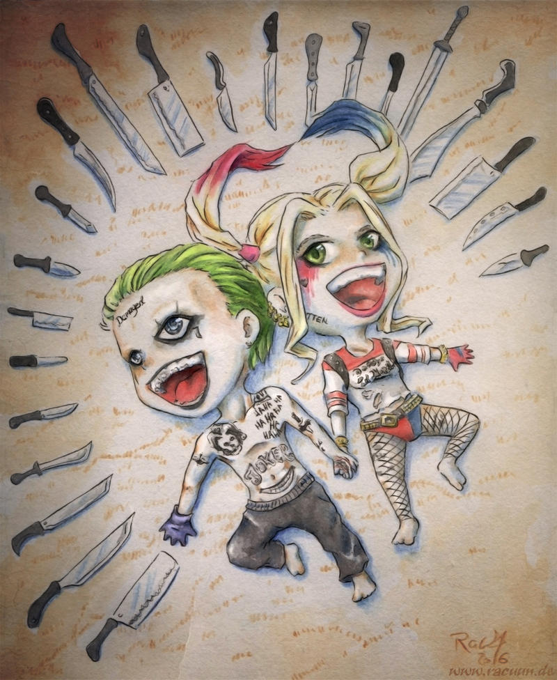 how to draw chibi joker from suicide squad