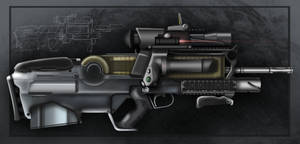 Futuristic Assault Rifle