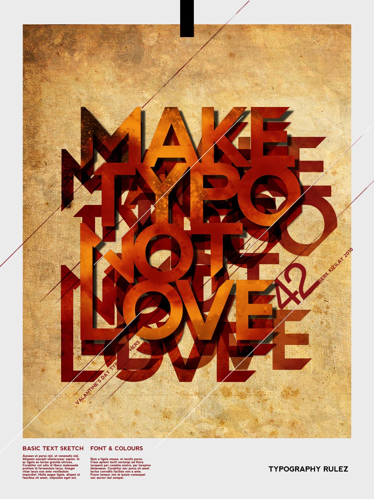 MAKE TYPO NOT LOVE