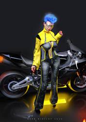 Cyberpunk Biker