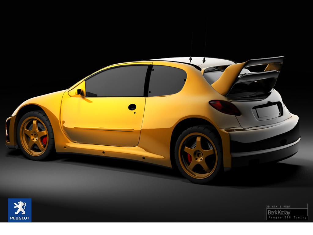 peugeot 206 tuning by palax on deviantart. Black Bedroom Furniture Sets. Home Design Ideas