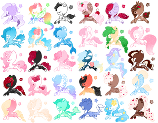 Mega MLP Pony Adoptables Batch 2 (7/30 OPEN) by Faeyrie