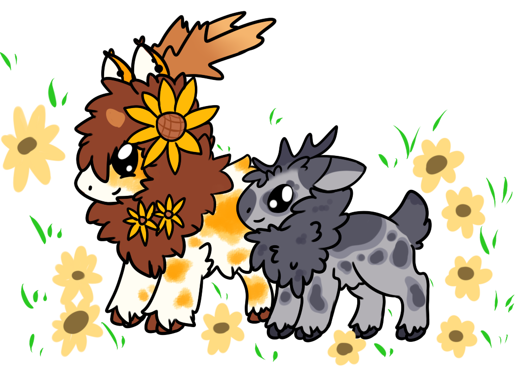 Buttercup and Pluto by Faeyrie