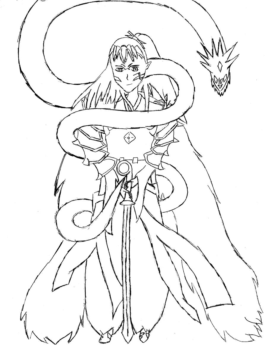 sesshoumaru coloring pages - photo#34