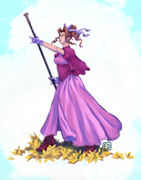 FF7 - Aerith Re-imagined by lobsterbiscuit