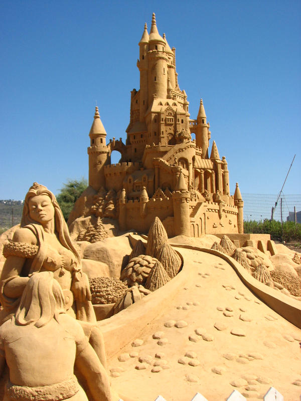 sand castle 3 by MissKayaStock