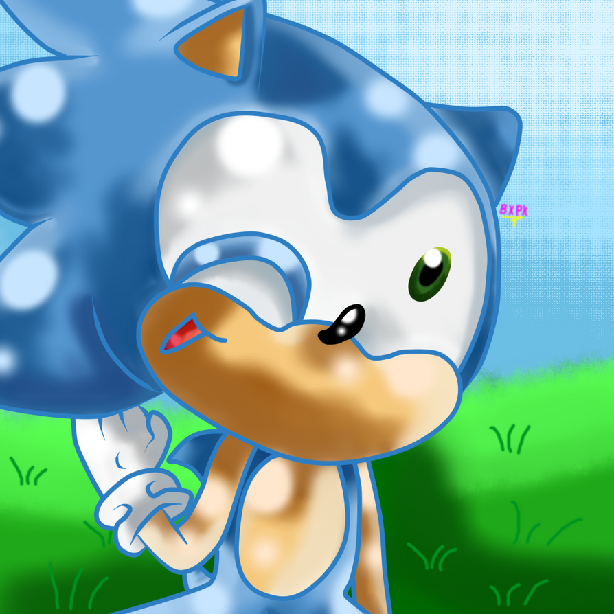 Chibi Sonic by BechaXFluo