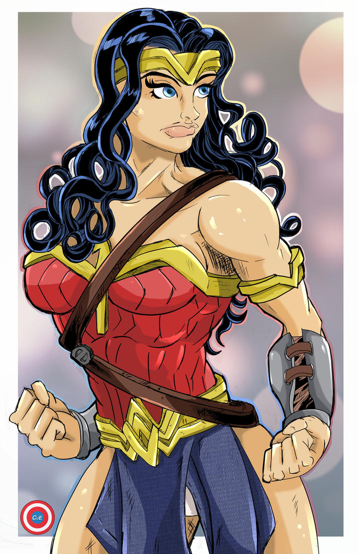 Curly Wonder Woman by Zaatis