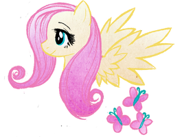 Fluttershy Doodle by RizCifra
