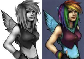 Human Rainbow Dash by RizCifra