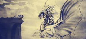 Sketch - Fluttershy vs Dragon