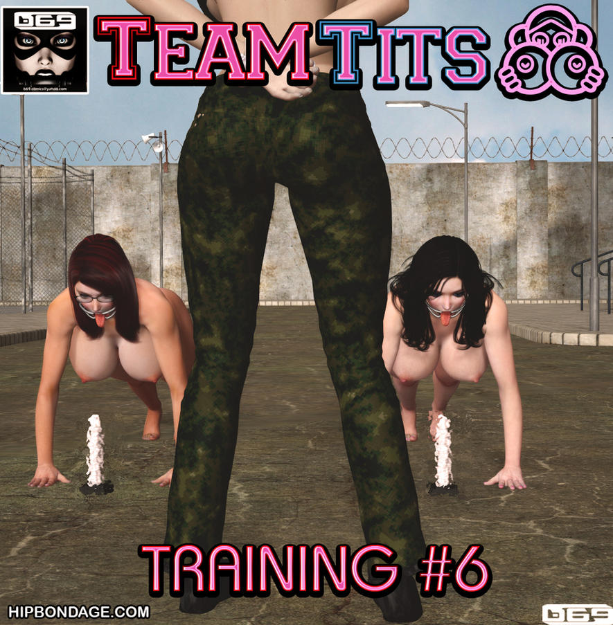 Cover of Team Tits: Training # 6 (censored for DA) by B69comics