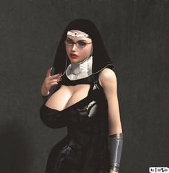 Vestala the Amaznun by B69comics