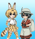 Kemono Friends Serval and Kaban