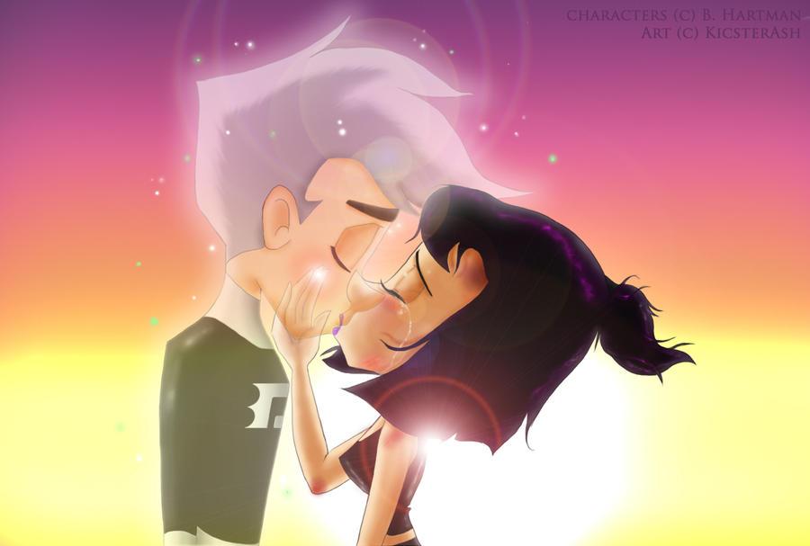 Danny and sam parting kiss by kicsterash on deviantart