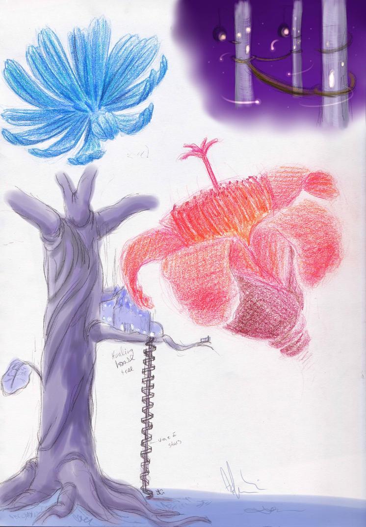 Twilight Lagoon Concept art 1 by KicsterAsh