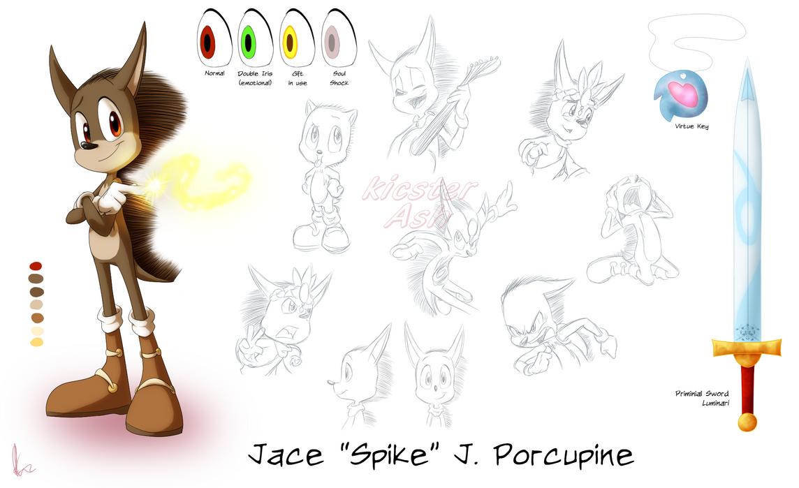 Spike Porcupine Model Sheet by KicsterAsh