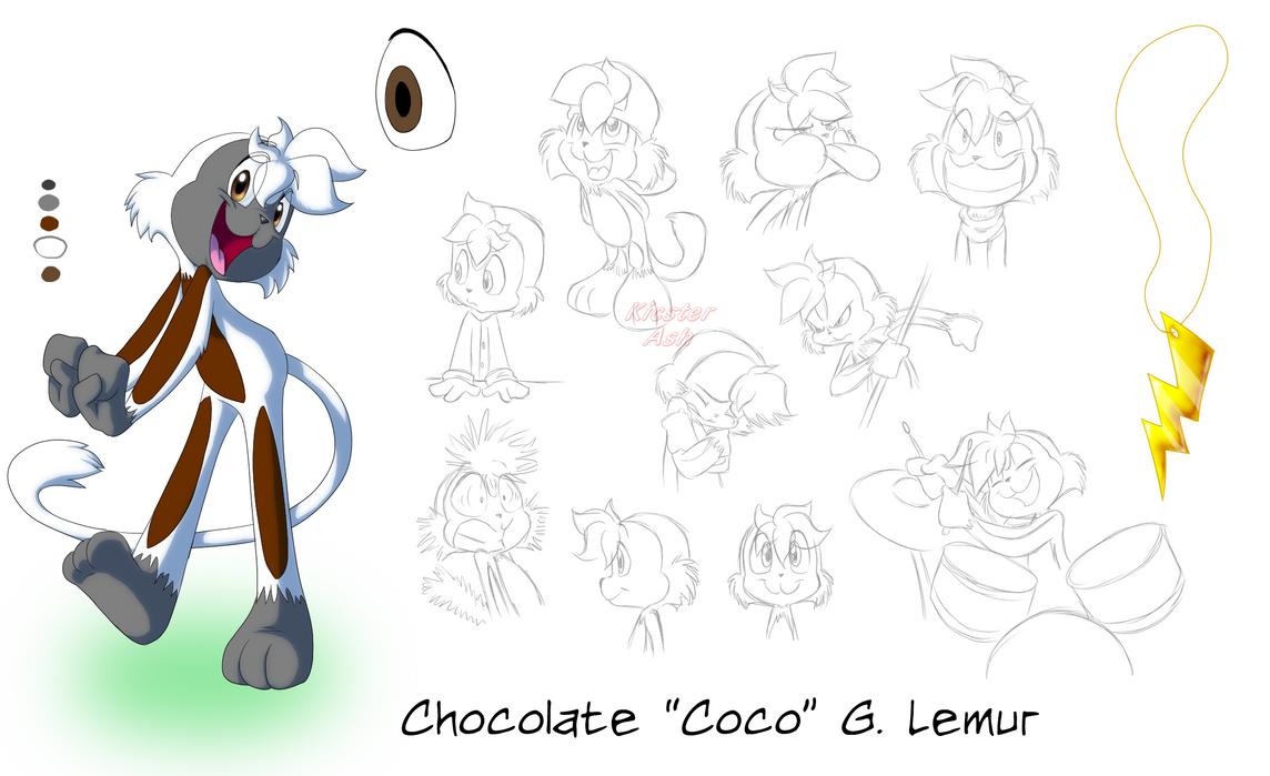 Coco Lemur Model Sheet by KicsterAsh