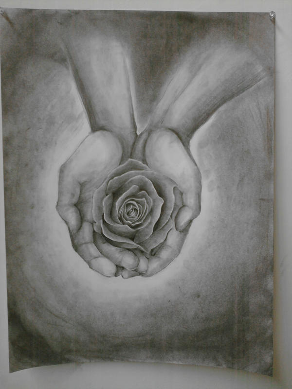 Drawing Class Assignment 1 - hands and object by KicsterAsh