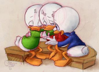 Ducky huggles by KicsterAsh