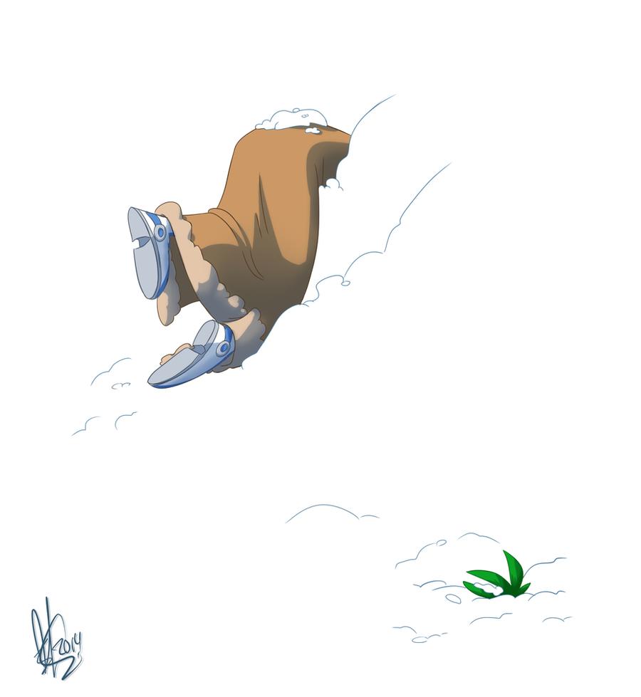 Slide into a Mountain by KicsterAsh