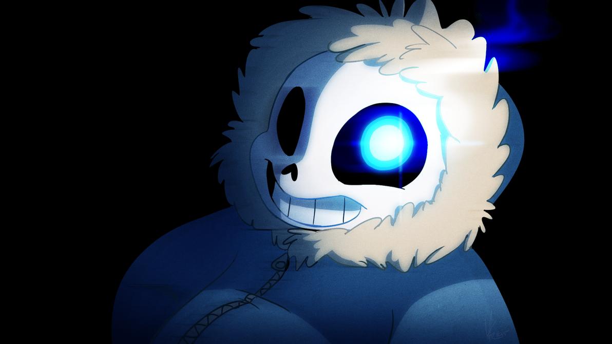 Sans Undertale Blue Eye