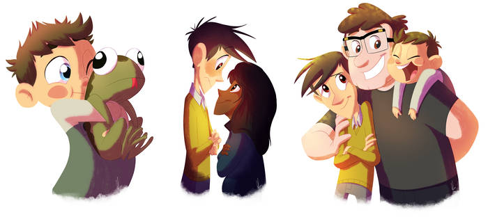 Over The Garden Wall And Gravity Falls By Kicsterash On Deviantart
